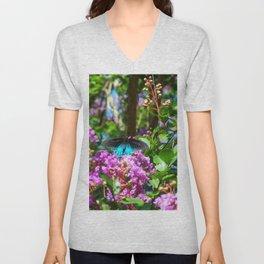 Floral Print 089 Unisex V-Neck
