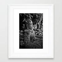 buddah Framed Art Prints featuring Mystic Buddah by Tyrantzor