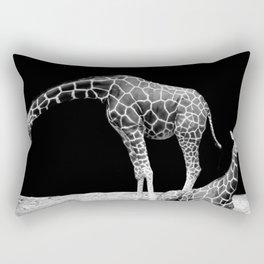 Black and White Giraffes Two Giraffes Rectangular Pillow