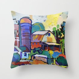 Farm on Chestnut Hill Road Throw Pillow
