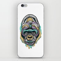 gorilla iPhone & iPod Skins featuring Gorilla by casiegraphics