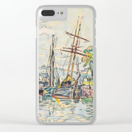 "Paul Signac ""Paimpol, Terre-Neuvas à quai"" Clear iPhone Case"