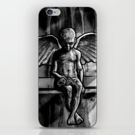 ANGEL OF CUPS - black 8 iPhone Skin