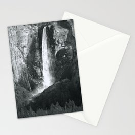 Bridalveil Falls. Yosemite California in Black and White Stationery Cards