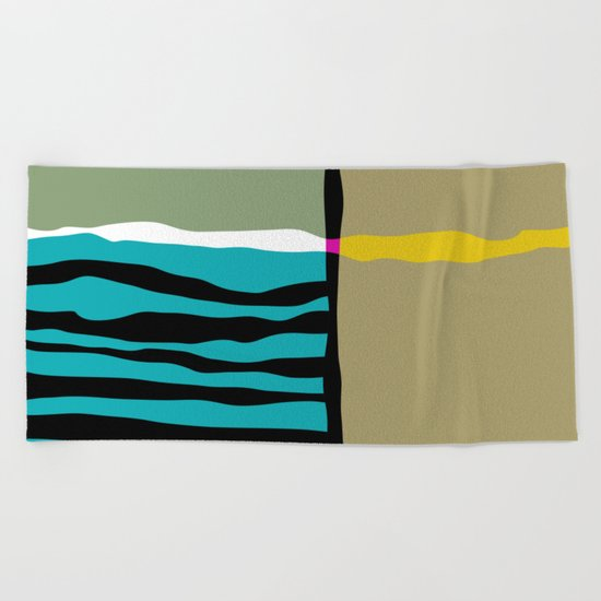 abstract composition 03 Beach Towel
