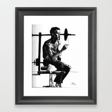 In between sets Framed Art Print
