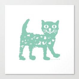 Mint cat drawing, cat drawing Canvas Print