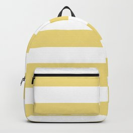 Buff - solid color - white stripes pattern Backpack