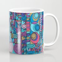 stained glass Mugs featuring Stained Glass by Helene Michau