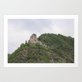 Rheinfels Castle above Sankt Goar Art Print