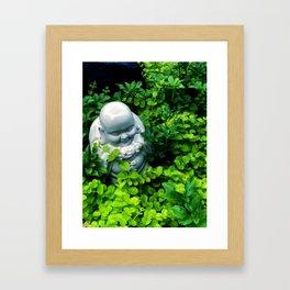 Buddha in Nature Framed Art Print
