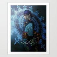 mononoke Art Prints featuring Mononoke by princefox