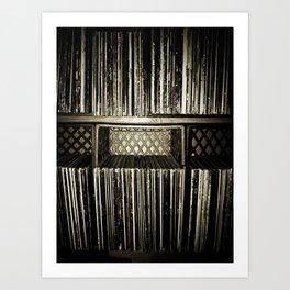 Record Crates Art Print