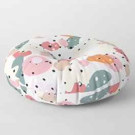 colorful shapes and figures Floor Pillow