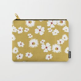 Modern liberty print on mustard ground Carry-All Pouch
