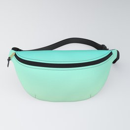 Pastel Mint Green Blue Teal Ombre Gradient Pattern Soft Spring Summer Texture Fanny Pack