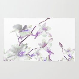 Branches with White Orchids Rug
