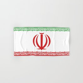Iran flag emblem Hand & Bath Towel