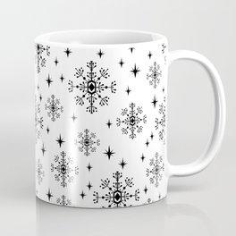 Snowflakes winter christmas minimal holiday black and white decor gifts Coffee Mug