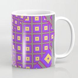 GREY PURPLE CREAM MODERN SQUARES ART Coffee Mug