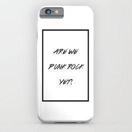 Punk Rock iPhone Case