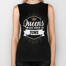 Queens-are-born-in-June Biker Tank