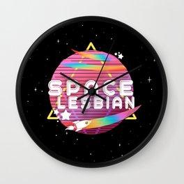 Space Lesbian Wall Clock