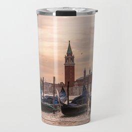 Venice Gondolas at Sunset, Italy Travel Photography, Venice Wall Art, Venecia Foto Travel Mug