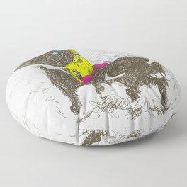 Ride a buffalo Floor Pillow