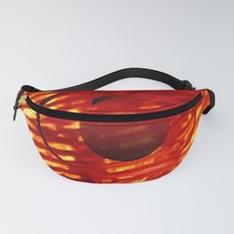 Red Spiral Fanny Pack