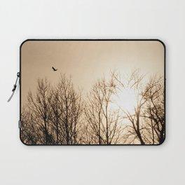 Bird Soaring Over Aspens Laptop Sleeve