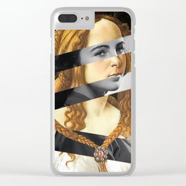 "Sandro Bottiecelli's Venus from ""Venus and Mars"" & Liz Taylor Clear iPhone Case"