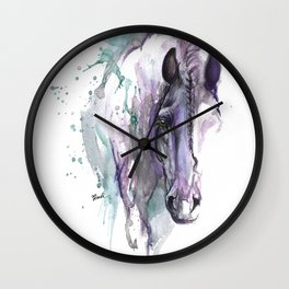 horse with braided mane Wall Clock
