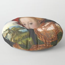 """Lucas Cranach the Elder """"Salome with the head of Saint John the Baptist"""" Floor Pillow"""