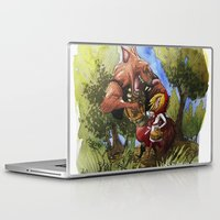 red hood Laptop & iPad Skins featuring Red Hood by Jose Luis Ocana