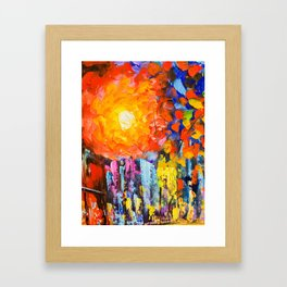 Oil Colours Framed Art Print