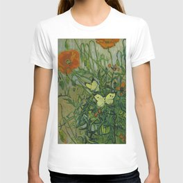 "Vincent Van Gogh ""Butterflies and Poppies"" T-shirt"