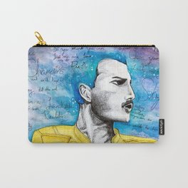 Queen F. Mercury Watercolor Portrait Carry-All Pouch