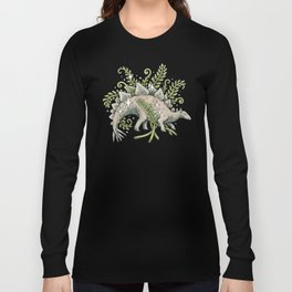 Stegosaurus & Ferns | Dinosaur Botanical Art Long Sleeve T-shirt