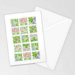 Tudor Flowers Stationery Cards