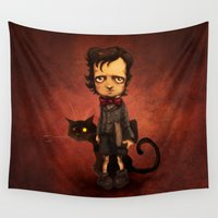 poe Wall Tapestries featuring Little Poe by Poe Collection (by David G. Forés)