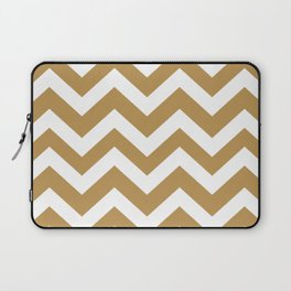 Maple syrup - brown color - Zigzag Chevron Pattern Laptop Sleeve