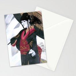Japanese Woman Street Art Stationery Cards