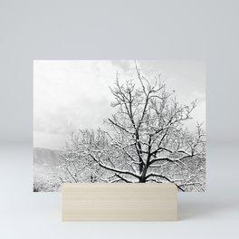 Snowy trees Mini Art Print