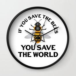 Honeybee Beekeeper Save World Nature Earth Climate Change Gift Wall Clock
