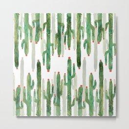 Cactus Mirror Metal Print