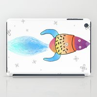 rocket iPad Cases featuring Rocket by Dorrith Rem