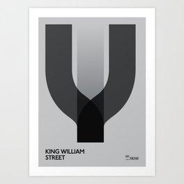 Off The Map   King William Street Art Print