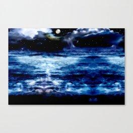 Blue Night Sky Canvas Print