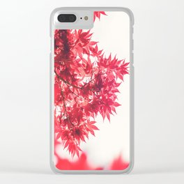 Japanese Maple Leaves Clear iPhone Case